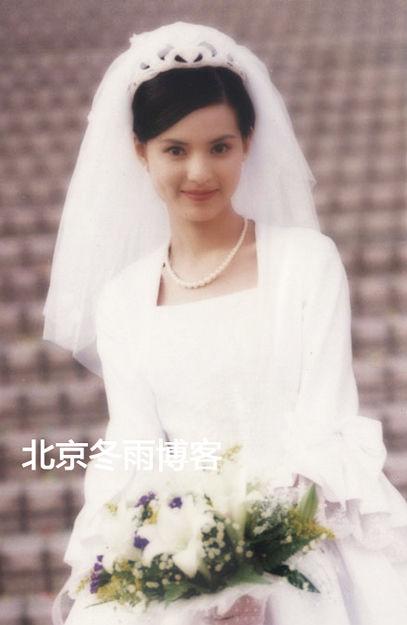 李若彤早年甜美婚纱照曝光