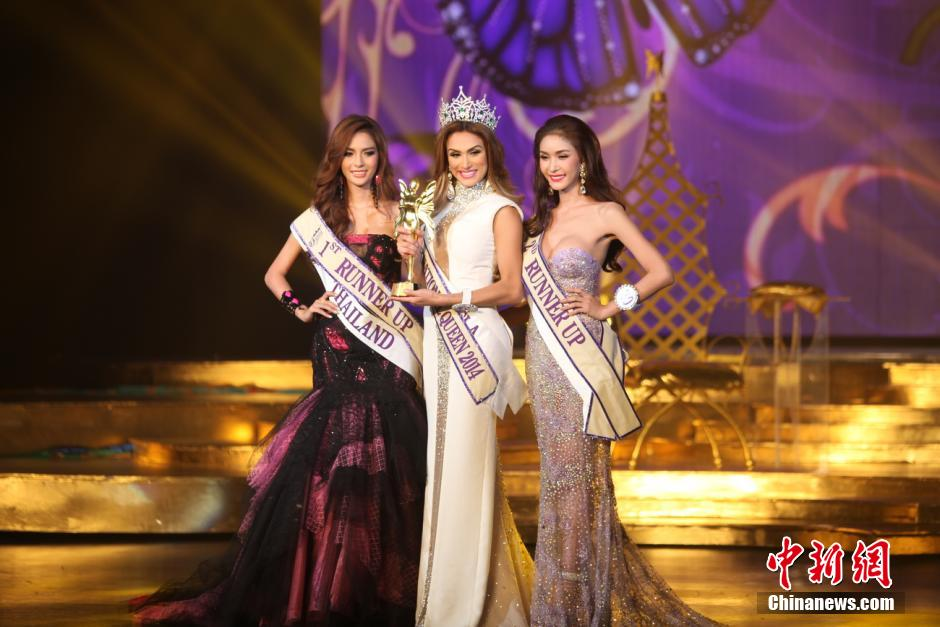 The final of the International Queen 2014 Transexual beauty contest was held in Pattaya on November 7, 2014. Twenty-two contestants from 18 countries competed in Pattaya for the Miss International Queen title. (Photo Source: chinanews.com)