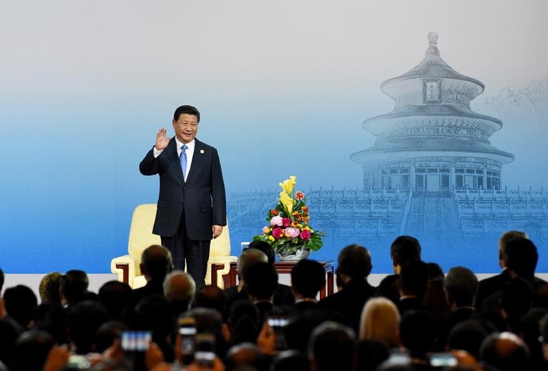 (APEC)工商领导人峰会开幕式并发表主旨演讲.新华社记者 马占图片