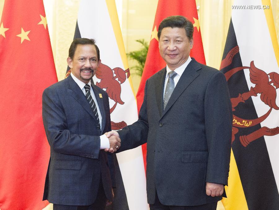 CHINA-BEIJING-XI JINPING-BRUNEI-HASSANAL BOLKIAH-MEETING (CN)