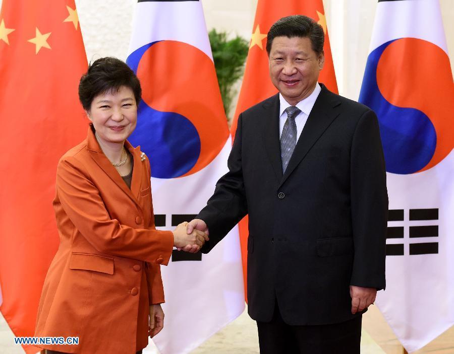 (APEC 2014) CHINA-BEIJING-XI JINPING-ROK-PARK GEUN-HYE-MEETING (CN)
