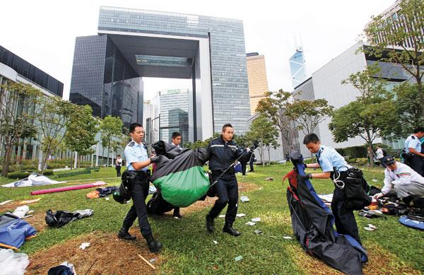 Tolerance ends, HK chief vows