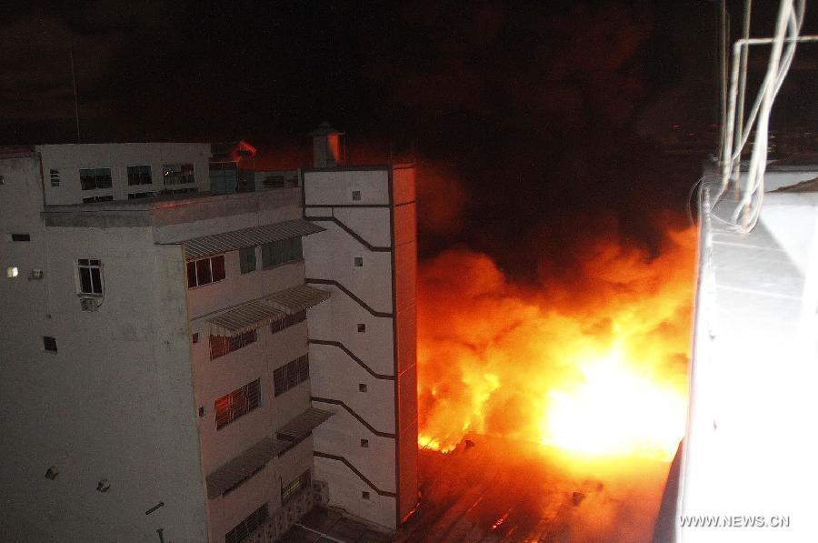 BRAZIL-SAO PAULO-FIRE
