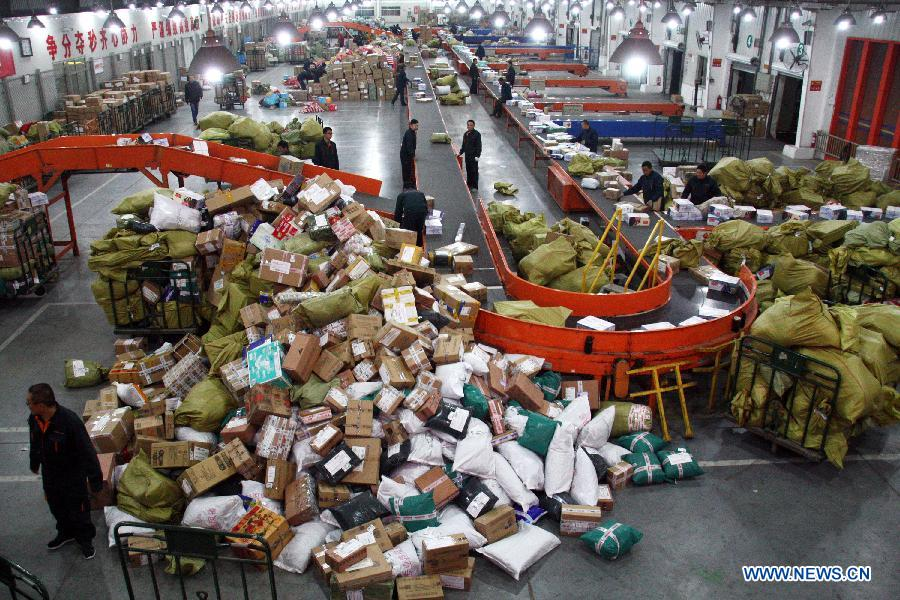 The total revenue of China's express delivery market hit 204 billion yuan (33 billion U.S. dollars) in 2014, up 42 percent, official data showed on Tuesday. Businesses made 14 billion deliveries last year, the most in the world and 52 percent up from 2013, according to the State Post Bureau (SPB).