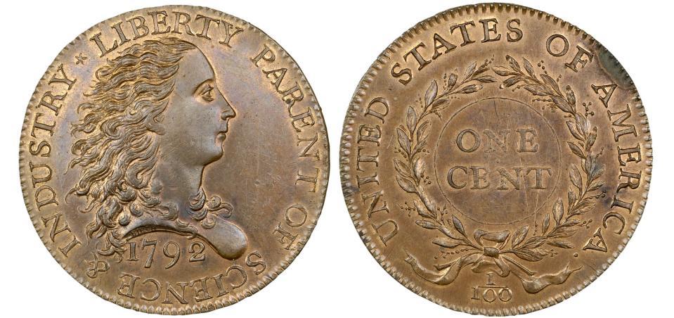 美国最早1美分硬币竟拍出1600万天价