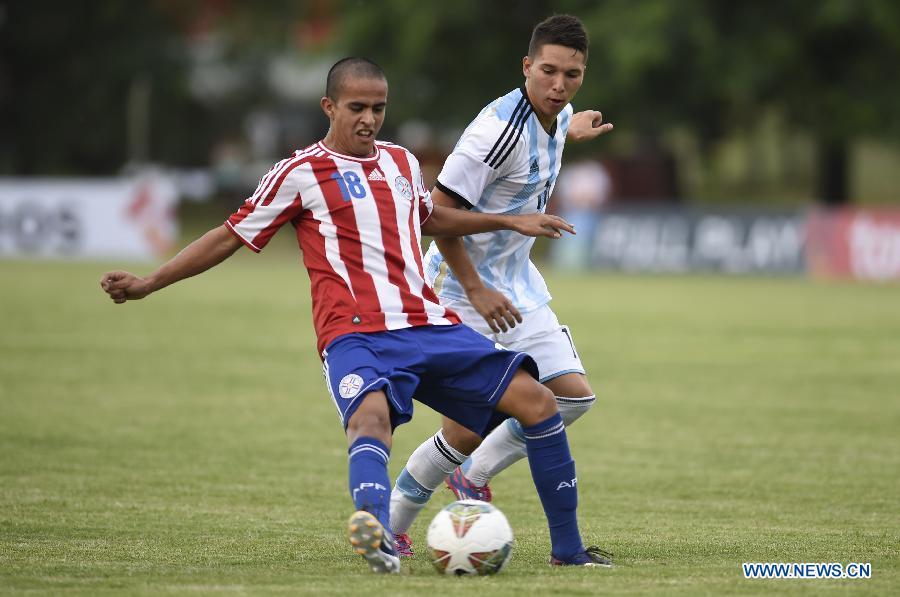 (SP)URUGUAY-COLONIA-SOCCER-ARGENTINA VS PARAGUAY
