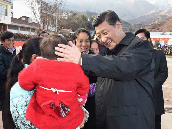Xi checks up on quake victims