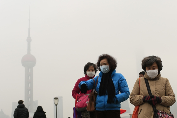 Haze blankets Shanghai