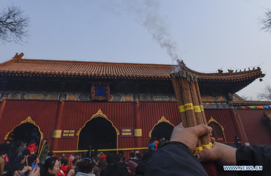 CHINA-BEIJING-YONGHEGONG LAMA TEMPLE-NEW YEAR PRAYER (CN)