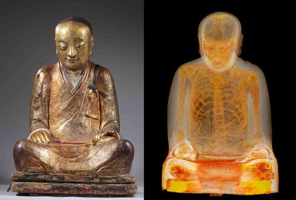 Monk's body found concealed in Chinese Buddha statue
