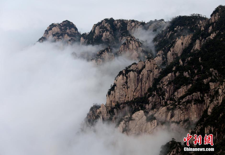 安徽黄山现羊年首场壮观云海【4】