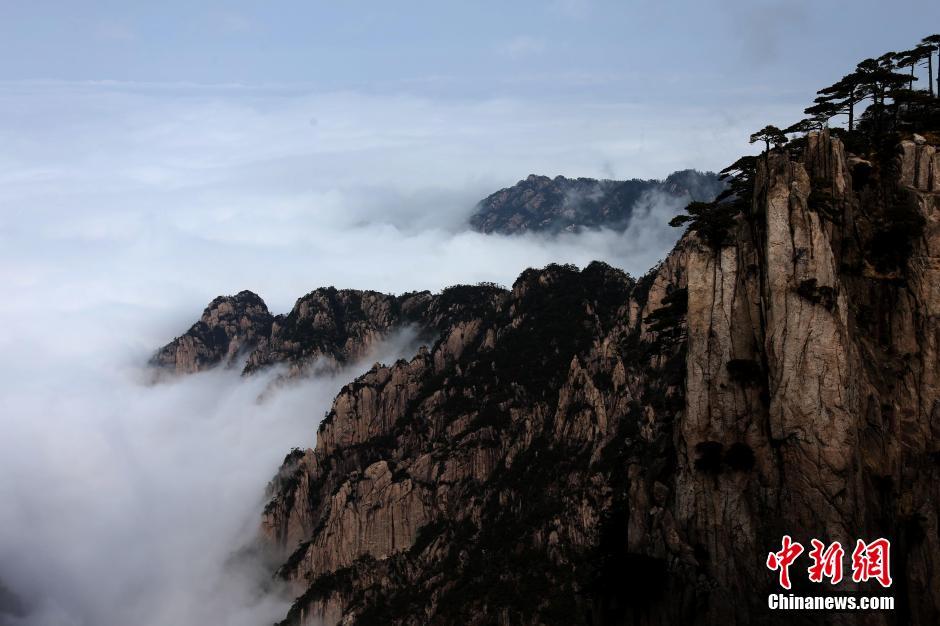 安徽黄山现羊年首场壮观云海【3】