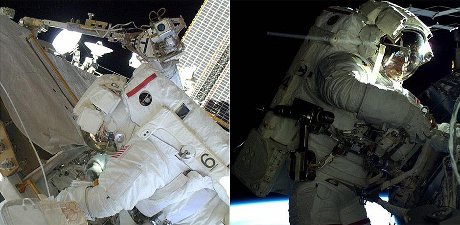 宇航员工作不忘自拍 对比图展示空间站庞大身躯【5】
