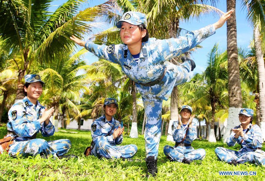 xisha dao women Huangyan dao, one of the islands in the south china sea [women's voice.