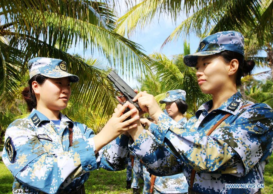 #CHINA-XISHA ISLANDS-FEMALE SOLDIERS (CN)