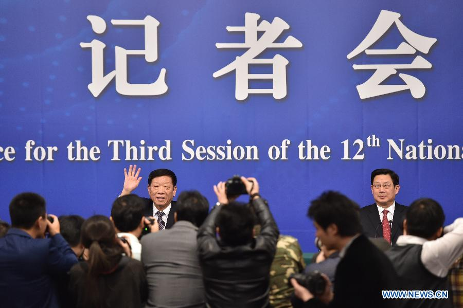 (TWO SESSIONS) CHINA-BEIJING-NPC-PRESS CONFERENCE-YIN WEIMIN (CN)
