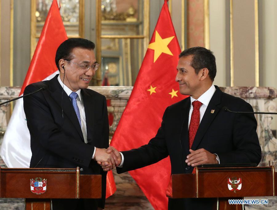 PERU-LIMA-CHINESE PREMIER-PRESS CONFERENCE
