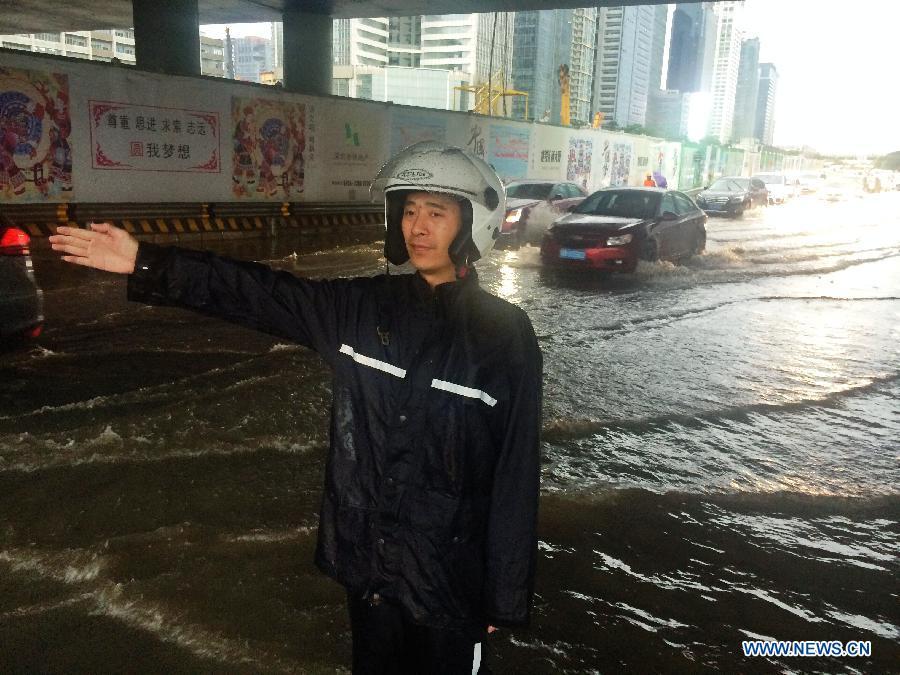 CHINA-GUANGDONG-RAINSTORM-WARNING (CN)