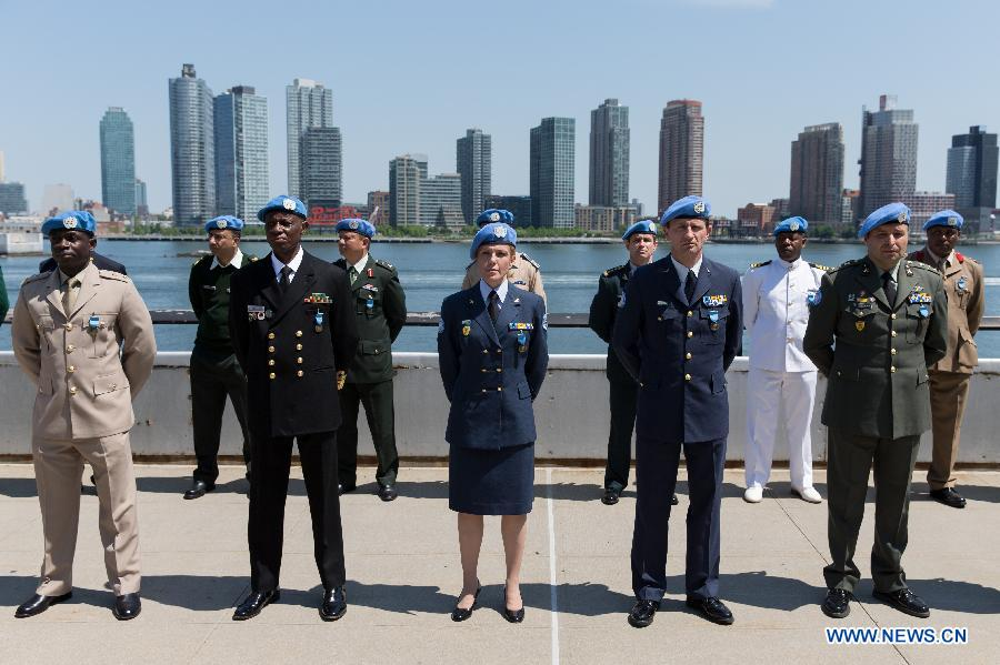 UN-NEW YORK-DAY OF UN PEACEKEEPERS-CEREMONY
