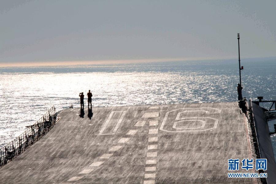 (图文互动)(1)辽宁舰出海进行例行训练和试验
