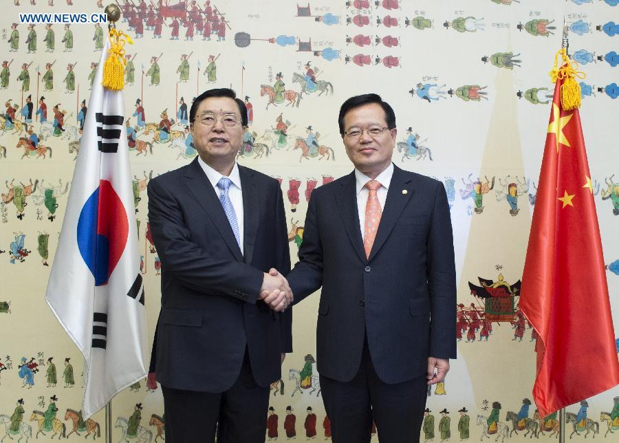 SOUTH KOREA-CHINA-ZHANG DEJIANG-TALKS