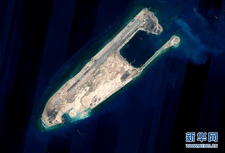 (社会)中国在南沙群岛部分驻守岛礁上的建设将于近期完成陆域吹填工程