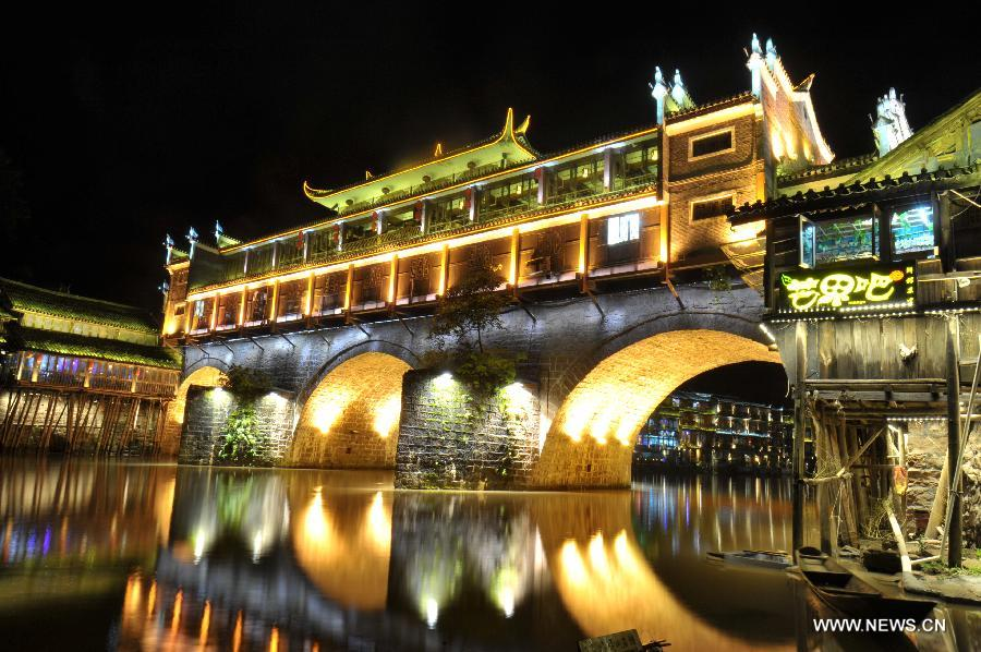 CHINA-HUNAN-FENGHUANG-NIGHT VIEW (CN)