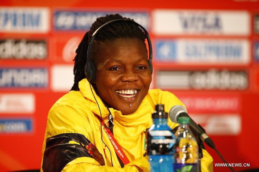 (SP)CANADA-EDMONTON-FIFA WOMEN'S WORLD CUP-CAMEROON-PRESS