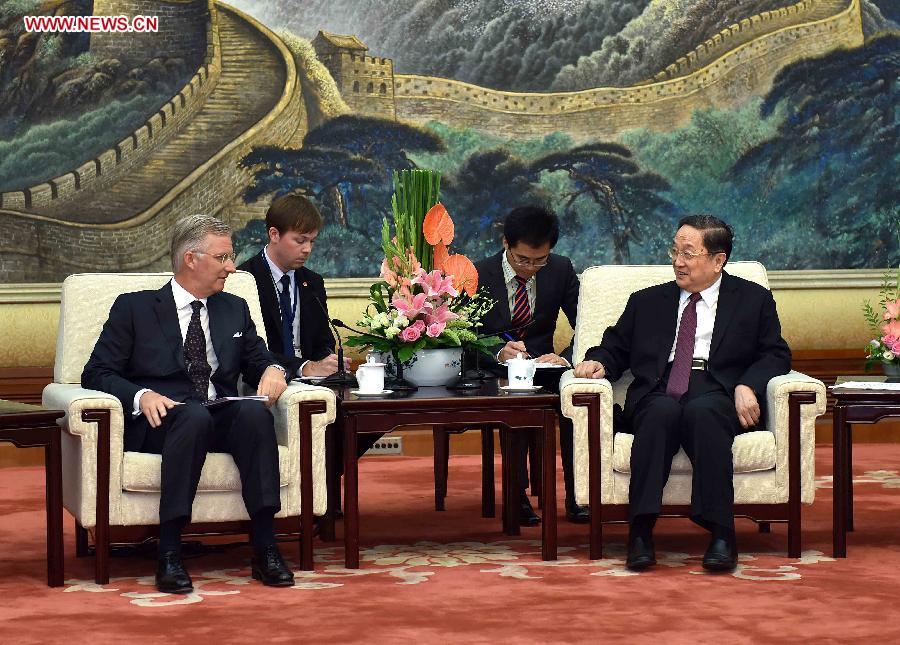 CHINA-BELGIUM-YU ZHENGSHENG-KING-MEETING (CN)