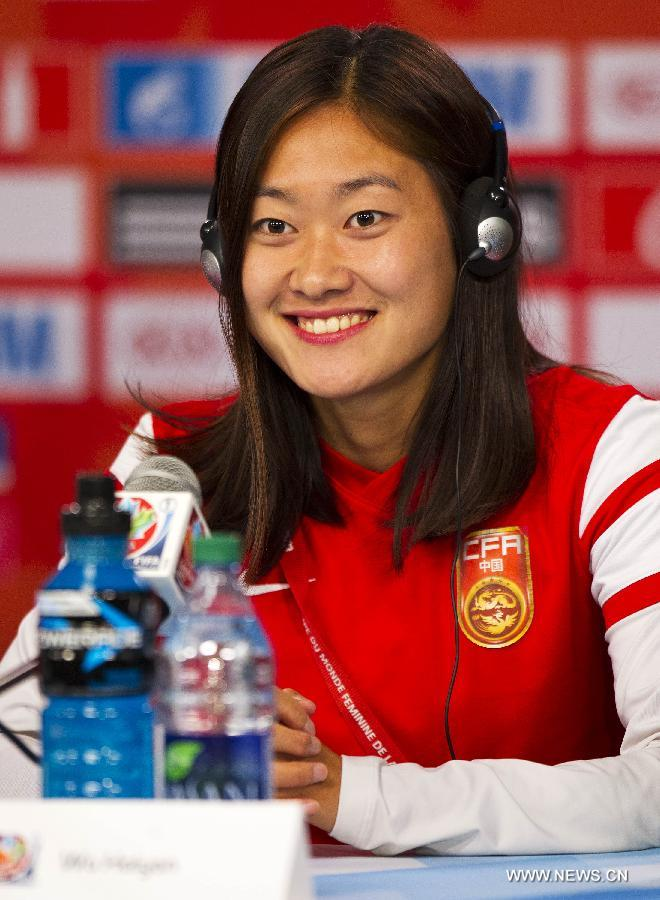 (SP)CANADA-OTTAWA-FIFA-WOMEN'S WORLD CUP-QUARTERFINALS-PRESS CONFERENCE-CHINA