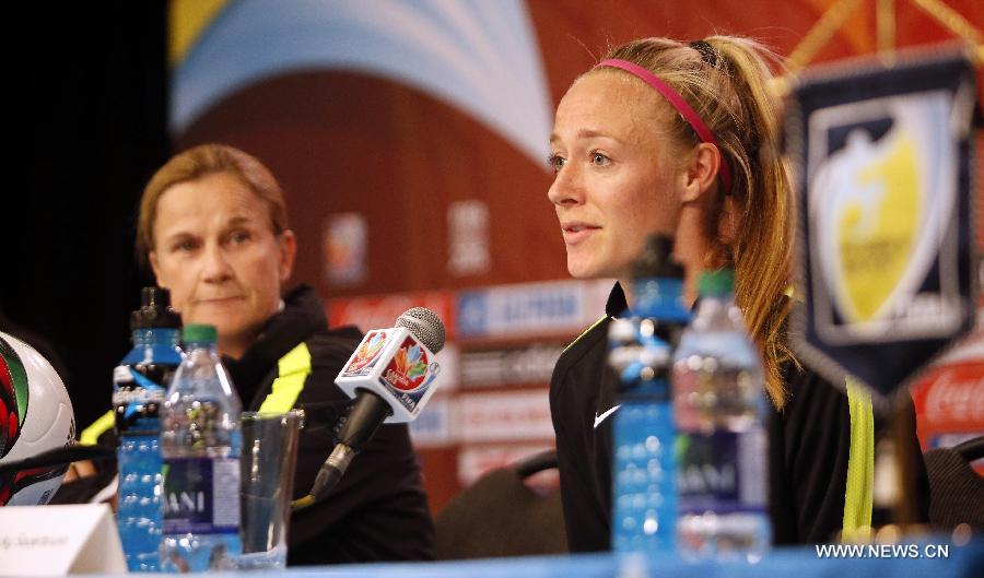 (SP)CANADA-OTTAWA-FIFA-WOMEN'S WORLD CUP-QUARTERFINALS-PRESS CONFERENCE-US