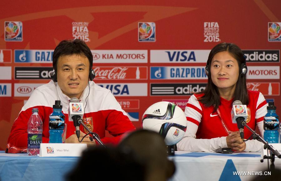 (SP)CANADA-OTTAWA-FIFA-WOMEN'S WORLD CUP-QUARTERFINALS-PRESS CONFERENCE-CHINA