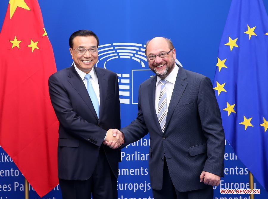 BELGIUM-CHINA-LI KEQIANG--SCHULZ-MEETING
