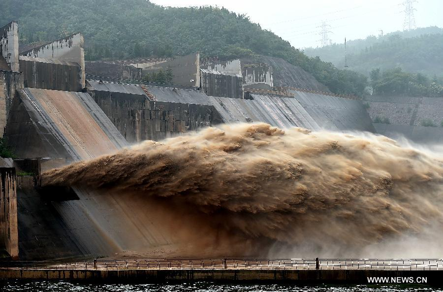 CHINA-HENAN-YELLOW RIVER-XIAOLANGDI DAM-WATER CASCADES (CN)