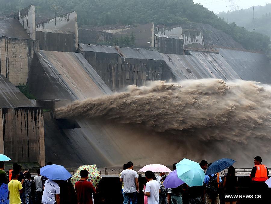 CHINA-HENAN-YELLOW RIVER-XIAOLANGDI DAM-WATER CASCADES (CN)