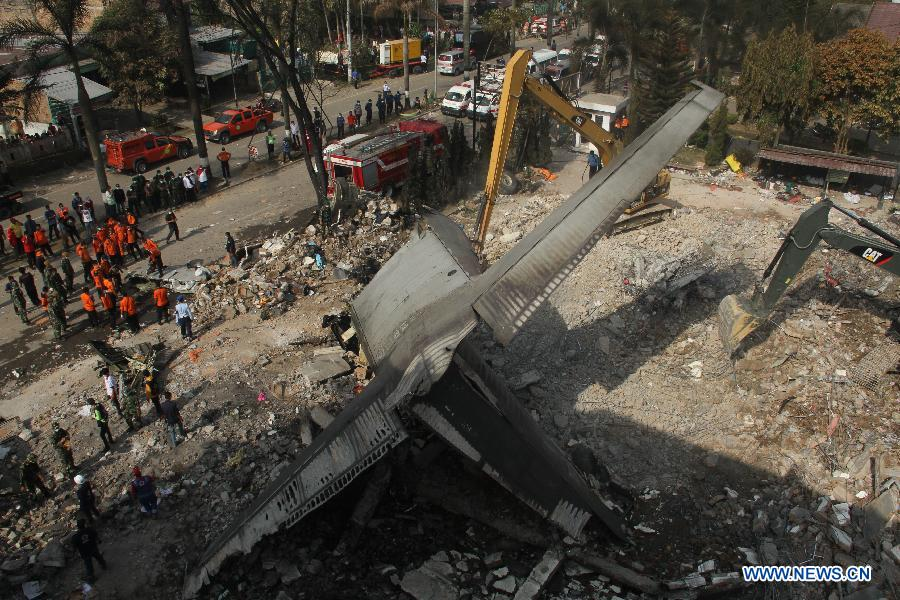 INDONESIA-MEDAN-MILITARY PLANE-CRASH