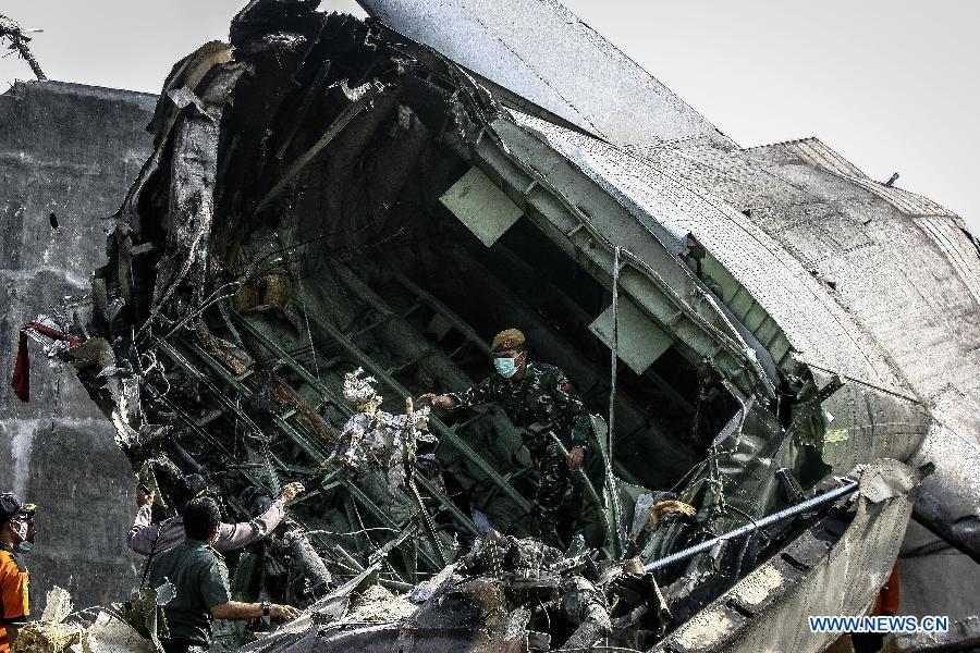 INDONESIA-MEDAN-MILITARY PLANE-CRASH