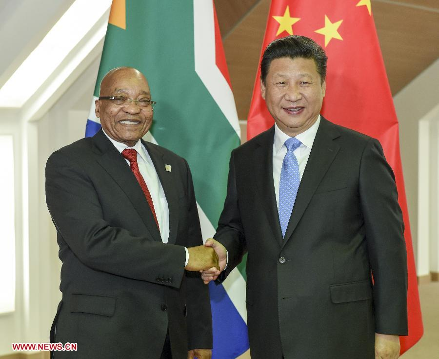 RUSSIA-UFA-CHINA-XI JINPING-JACOB ZUMA-MEETING