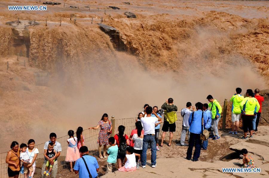 #CHINA-SHANXI-LINFEN-HUKOU WATERFALL (CN)
