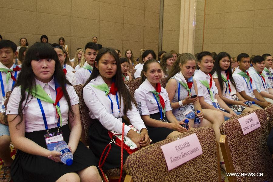 The 8-day summer camp attracted 196 Russian teenagers to take part in.