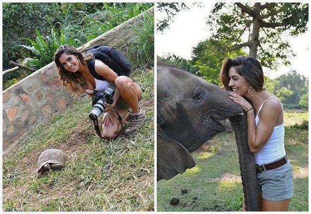 美国女模特辞职去非洲保护野生动物
