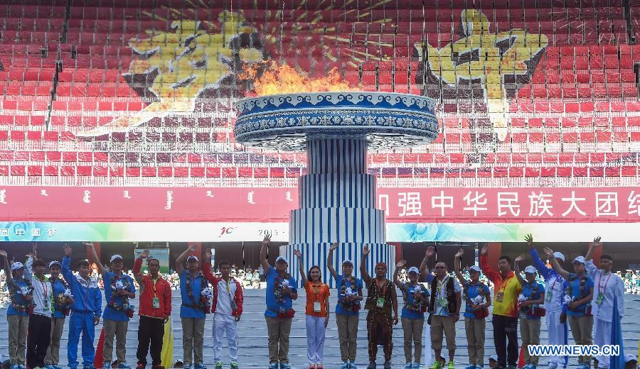 (SP)CHINA-ORDOS-NATIONAL ETHNIC GAMES-CLOSING CEREMONY(CN)