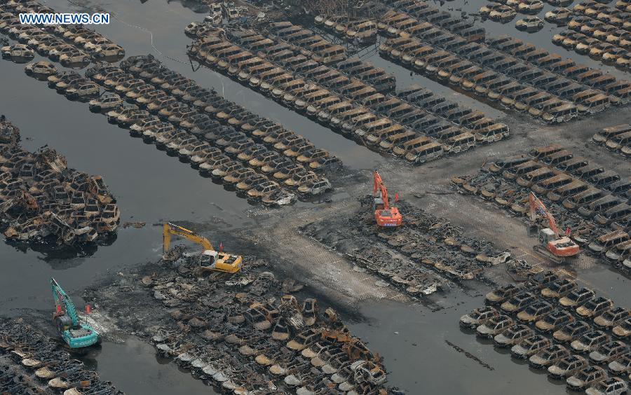 CHINA-TIANJIN-EXPLOSION SITE-CLEANUP (CN)