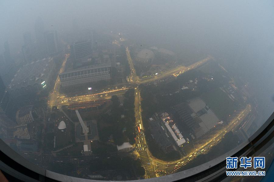 (国际)(1)烟霾笼罩新加坡