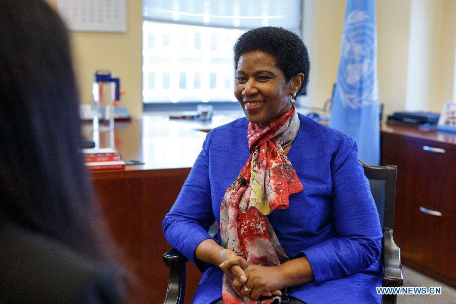 U.S.-NEW YORK-UN WOMEN CHIEF-INTERVIEW