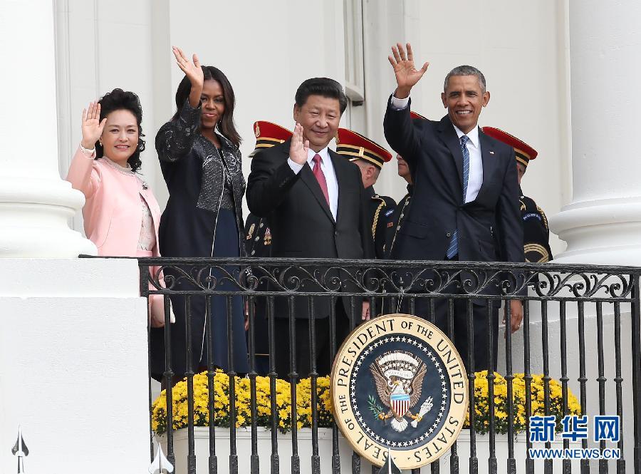 (XHDW)(2)习近平出席美国总统奥巴马举行的欢迎仪式