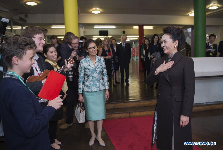 BRITAIN-LONDON-CHINA-PENG LIYUAN-FORTISMERE SCHOOL