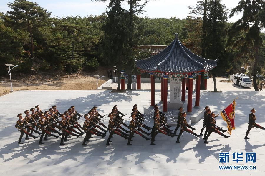 (国际)(1)朝鲜隆重纪念中国人民志愿军赴朝作战65周年