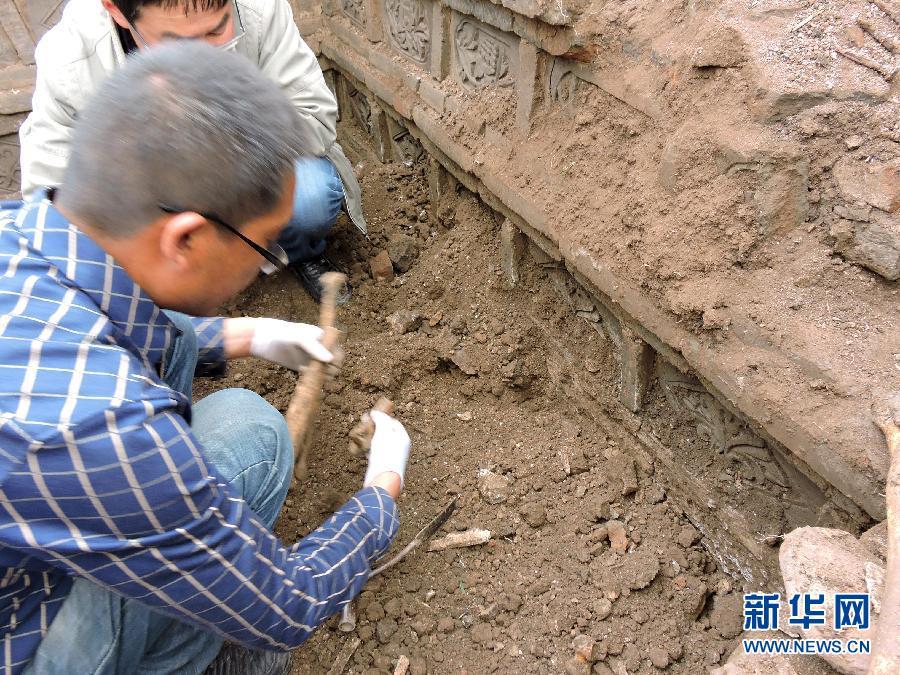 (文化)(1)甘肃渭源发现一座元代合葬砖室墓