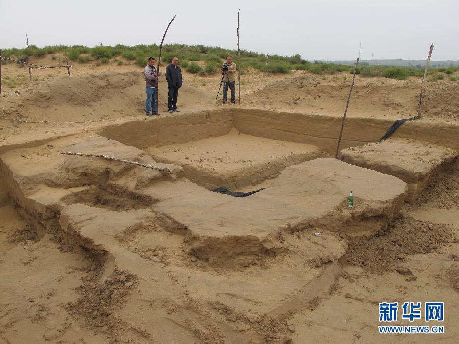 (图文互动)(1)陕西统万城遗址考古发现大型祭台